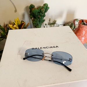 90's Chanel Baby Blue Small Frame Sunglasses